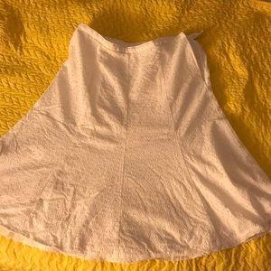 White Eyelet Midi Skirt